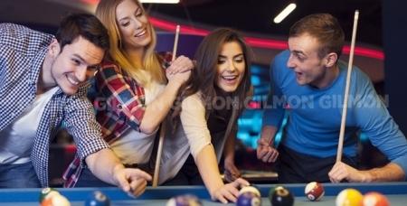 Игра в русский или американский бильярд на любое количество часов в ресторане-кабаре Мистер Икс.